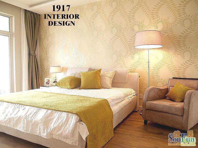 铁路楼 三居室 112㎡ 卧室装修效果图 深业城 现代简约
